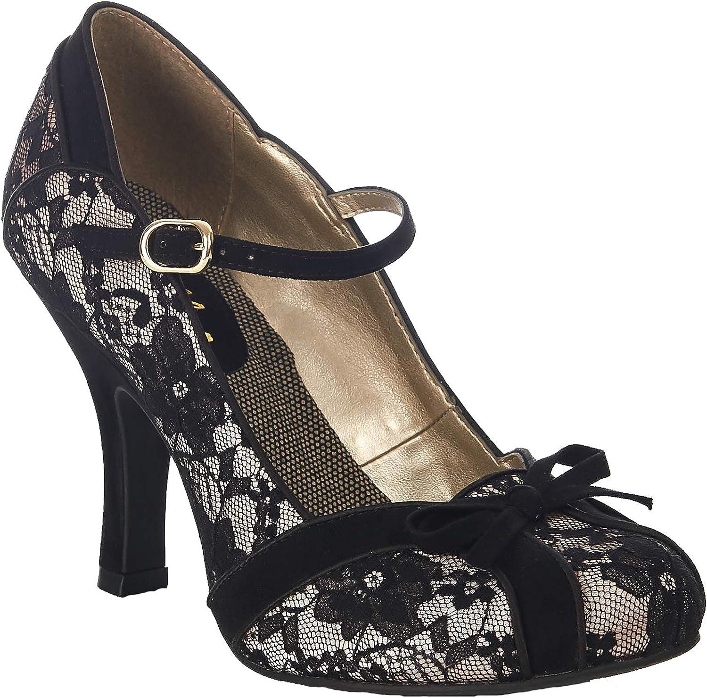 Ruby Shoo Damen Schuhe Schuhe Schuhe Cleo Floral Faux Suede Riemchen Pumps Geschlossen  880ce1