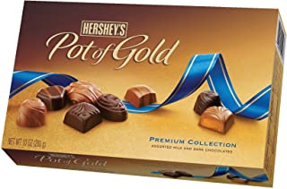 Hershey's Pot of Gold Assorted Milk and Dark Chocolates Premium Collection, 10-Ounce Boxes (Pack of 2)
