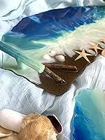 Belsartt. Bandeja en resina mar y playBandeja original. Piscina.Bandeja playa. Bandeja resina. Regalos para la casa....