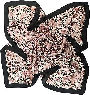 وشاح حريمي من Fairygate من الساتان والحرير وشاح للرقبة أوشحة مربعة الشكل منديل للرأس وأغطية للرأس على شكل بيزلي ناعم