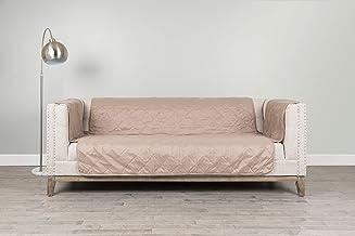 سيرتا | واقي أثاث مبطّن ألماسي للأريكة مع تصميم مانع للانزلاق حاصل على براءة اختراع وأشرطة سهلة التركيب، (حجري اللون)