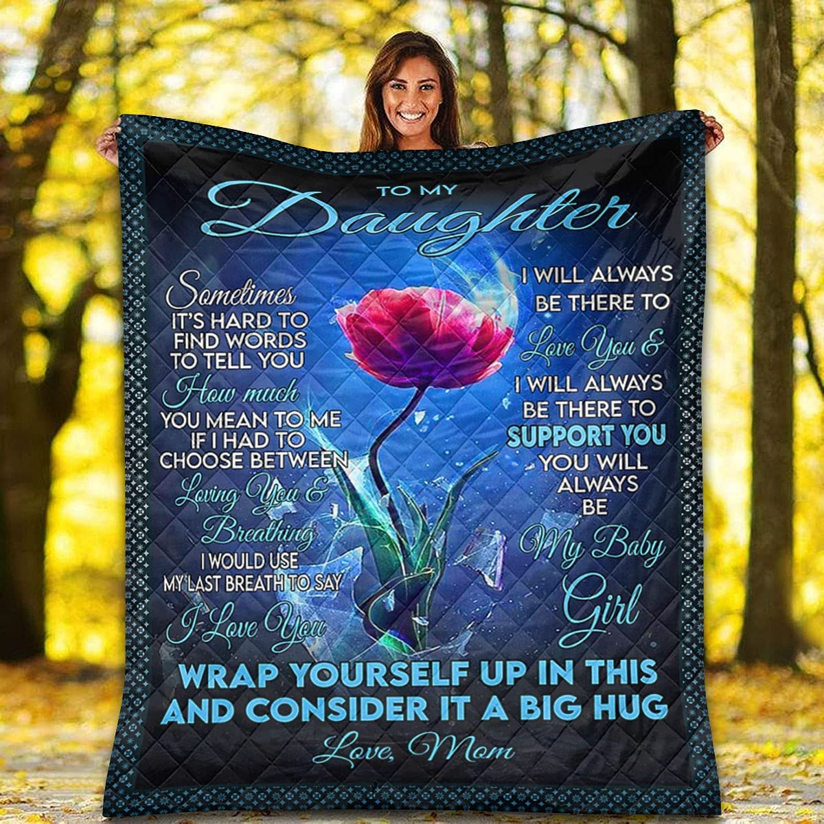 Boston Mall 5% OFF to My Daughter Quilt - Flower P in Yourself Up Wrap This