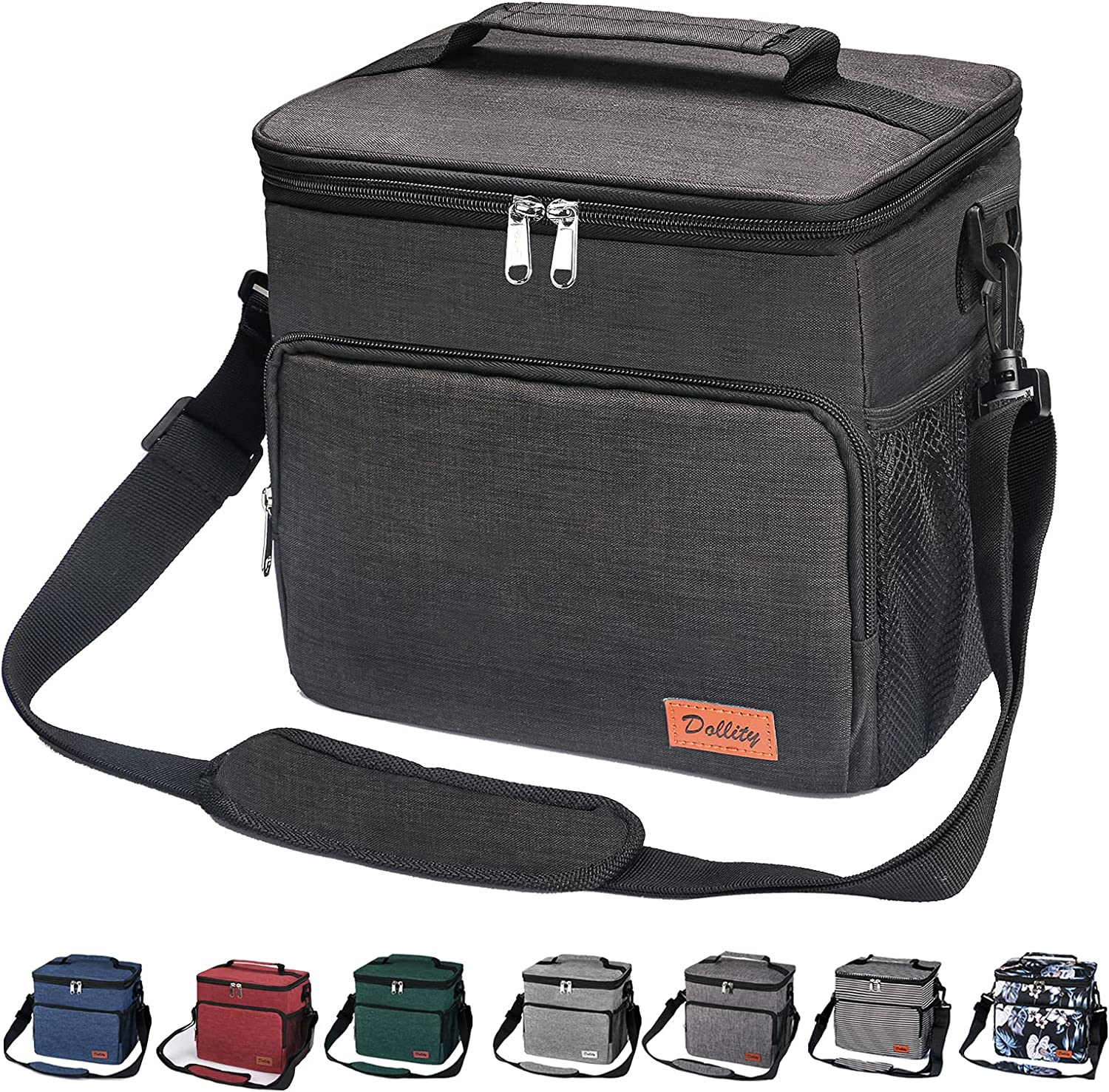 Insulated Lunch Bag for Men Women - Reusable Lunch Box for Work School Office Picnic Hiking - Leakproof Reusable Tote Cooler Bags for Kids Adult