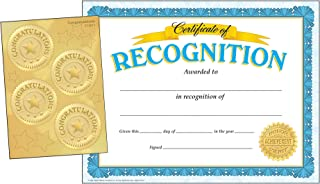 TREND enterprises, Inc. T-11907 Recognition (w/Congratulations Seals) Certificate Combo Pack