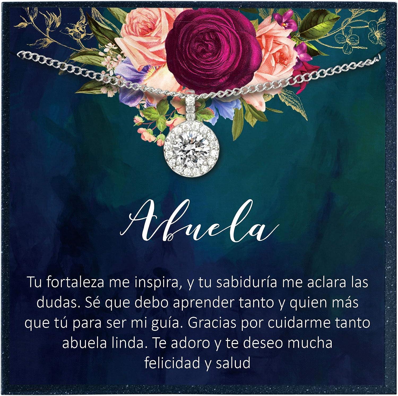 Collar Regalo para Abuela, Día de la Madre, Cumpleaños, Día de la Mujer Spanish Quote Gift for Grandmother Gift in Spanish Necklace