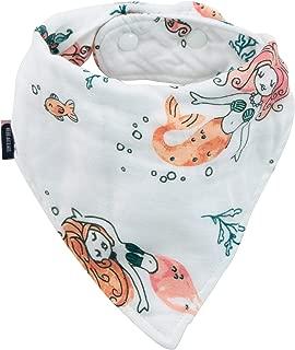 Bebe au Lait Oh So Soft Muslin Baby Bandana Bib - Mermaids