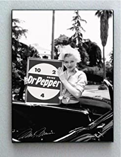 Framed Marilyn Monroe Dr. Pepper 10-4-2 Ad Sign Faux Signed Autograph Limited Edition Print