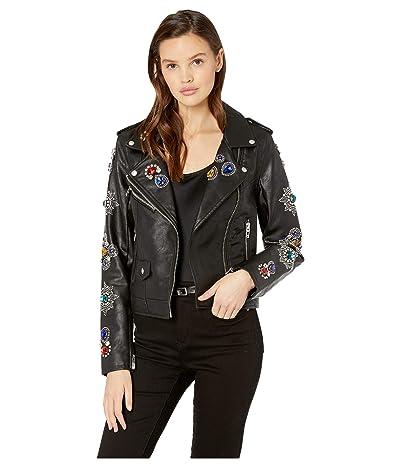 Blank NYC Embellished Vegan Leather Jacket in Gold Digger (Gold Digger) Women