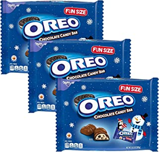 Oreo Fun Size Chocolate Candy Bar - Milk Chocolate - Seasonal Christmas Chocolate Assortment Variety Pack Snack Candies Size 10.2 Ounces (3 - PACK)