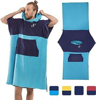 comprar comparacion Poncho Toalla con Capucha para la Playa, baño, Surf, natación - 100% algodón, Secado rápido - Albornoz - Robe Cambiador, p...
