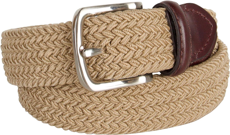 Dockers Big Boys Braided Elastic-Web Stretch Belt