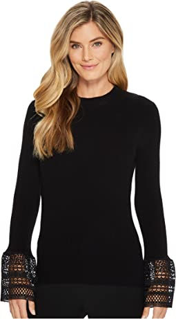 Ivanka Trump - Mock Neck Long Sleeve Bell Sweater