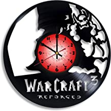 Warcraft III: Reforged Computer Game Logo Handmade Vinyl Record Wall Clock, Warcraft III: Reforged Kitchen Decor, Warcraft...