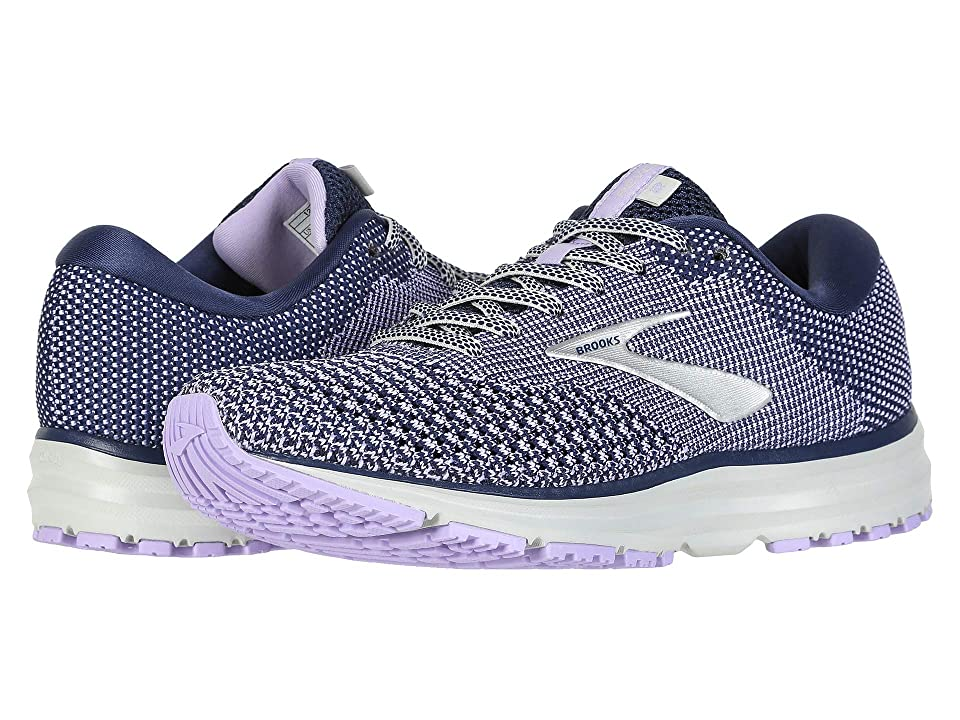 Brooks Revel 2 (Blue/Purple Rose/Grey) Women
