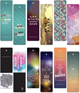 ON Sales! 60 pcs Encouraging Bookmarks Set - Colorful Cool Bookmark- Best Gift for Him and Her - Inspirational - Positive Thinking Bookmarks