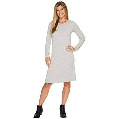 Carve Designs Jones Long Sleeve Dress (Heathered Glacier) Women