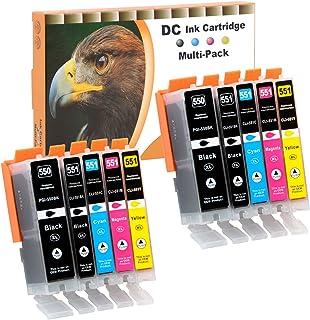 D&C 10x Druckerpatronen Kompatibel für Canon PGI 550 XL CLI 551 XL für Canon Pixma MG7550 MX925 iP7200 iP7250 MG5400 Series MG5450 MG5550 MG5650 MG5655 MX725 MX920 iP8750 iX6850 MG6350 MG6450 MG6650
