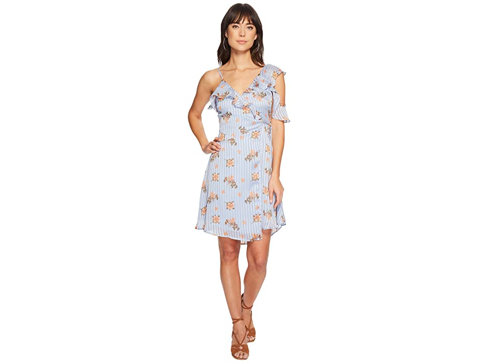 ASTR the Label Josie Dress (Blue/Peach Floral) Women