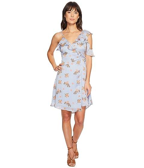ASTR floral vestido etiqueta azul Josie melocotón la r6rwfF