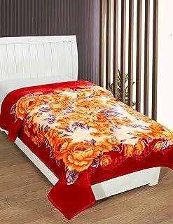 Bombay Dyeing Polyester 650 TC Blanket (Standard_Orange)