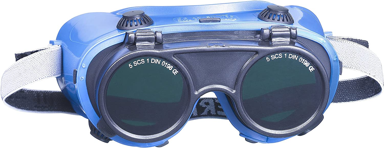 KWB 49378010 - Gafas de soldadura completa seguridad SB, plegables