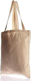 BagzDepot Tote Bags Bulk - 12 Pack - Cotton Canvas Tote Bags for School, Kids, Women, Men, Teachers - Tote Bags Canvas Wholesale - 15 x 16 - (Natural Bags)