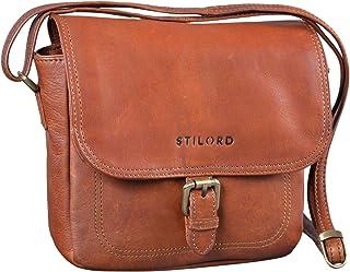 """STILORD Zoe"""" Umhängetasche Damen Leder Handtasche Frauen Elegante Schultertasche Vintage Ledertasche klein 8,4 Zoll Partytasche Abend Ausgehtasche Echtleder"""