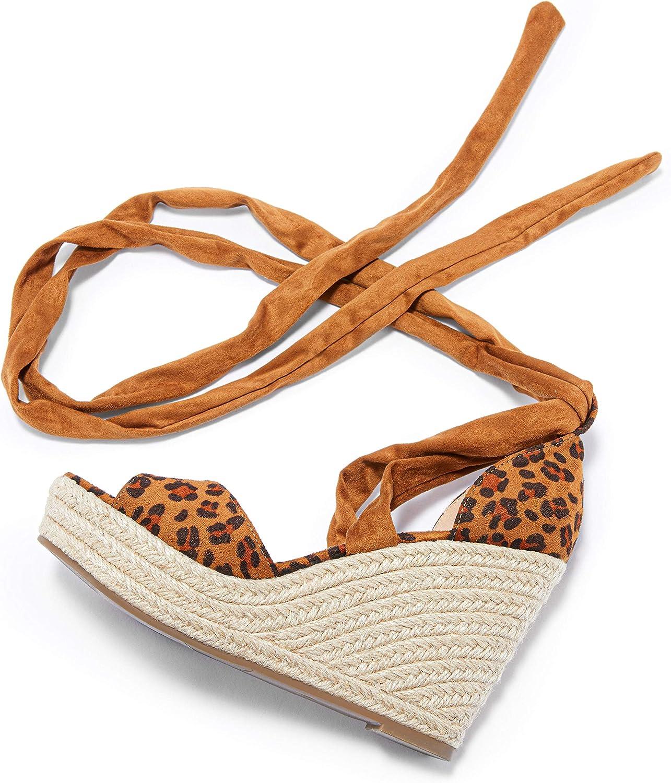 Huiyuzhi Indefinitely Womens Lace Up Charlotte Mall Platform Espadrille Open Wedge Sandals T