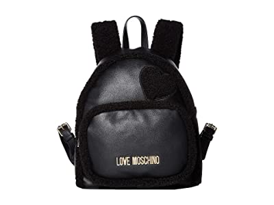 LOVE Moschino Stay Warm Backpack (Fantasy Print Black/Black) Backpack Bags