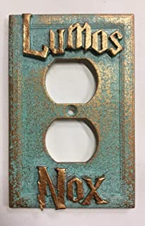 Lumos/Nox Outlet Plate (Aged Patina)