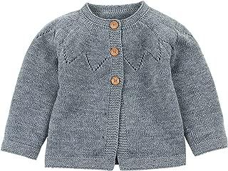 Feidoog Knitted Baby Girls Cardigan Sweater Toddler Knit Button up Cardigan Sweater Outwear