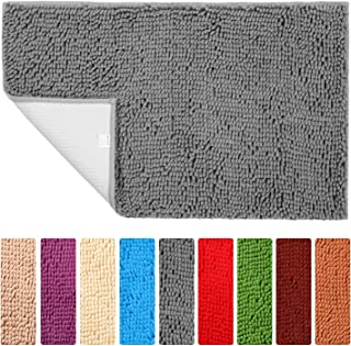 Bathroom Rugs Non Slip Bath Mat ORANIFUL Microfiber Plush Super Water Absorbent Machine Wash/Dry Shaggy Toilet Mat Extra Soft (17.5