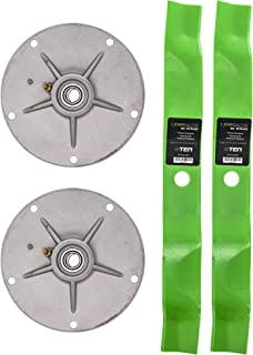 8TEN Spindle Mulching Blade Kit for Murray 40 Inch Cut Deck 40508x92E Lawn Tractors 492574MA