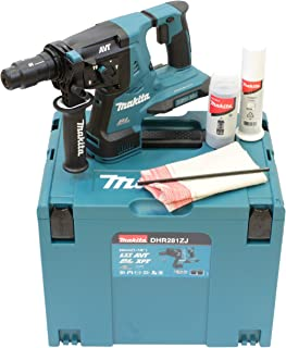 Makita DHR281ZJ (36V) Twin 18V Li-Ion LXT Brushless Rotary Hammer SDS-Plus Supplied in A Makpac Case - Batteries and Charg...