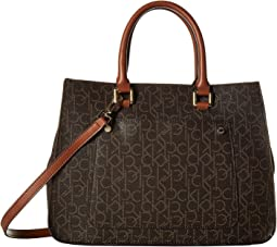 Monogram Organizational Satchel