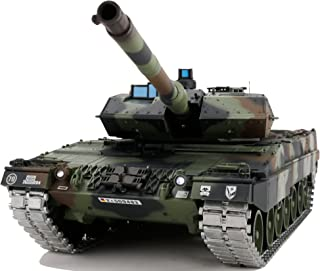 Modified TK6.0 Edition 1/16 2.4ghz Remote Control German Leopard 2A6 Tank Model(360-Degree Rotating Turret)(Steel Gear Gearbox)(3800mah Battery)(Metal Tracks &Sprocket Wheel & Idle Wheel)