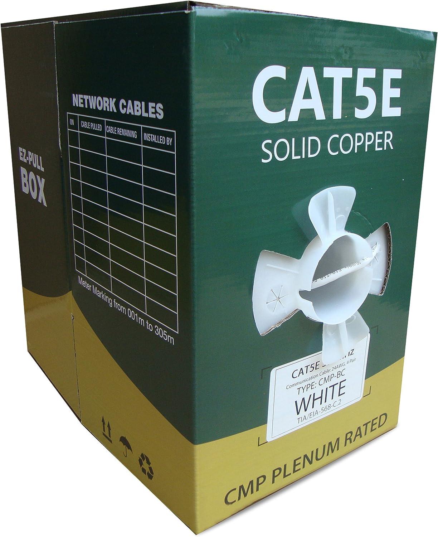 CAT5E Plenum UTP Nippon regular agency Solid Copper Dealing full price reduction 1000FT 24AWG Bulk Netwo CMP 350MHZ