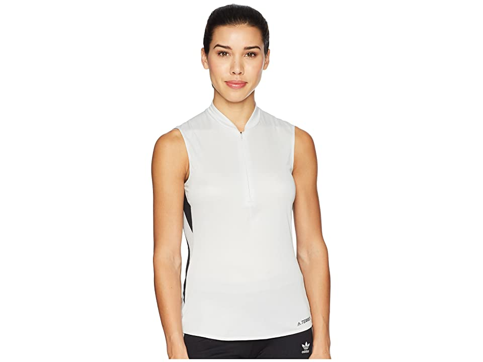 Image of adidas Outdoor Agravic Parley Top (Grey One) Women's Sleeveless
