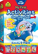 School Zone - My First Activities On-the-Go Workbooks 6-Pack - Ages 4 and Up, Preschool to 1st Grade, Activity Pad, Dot-t...
