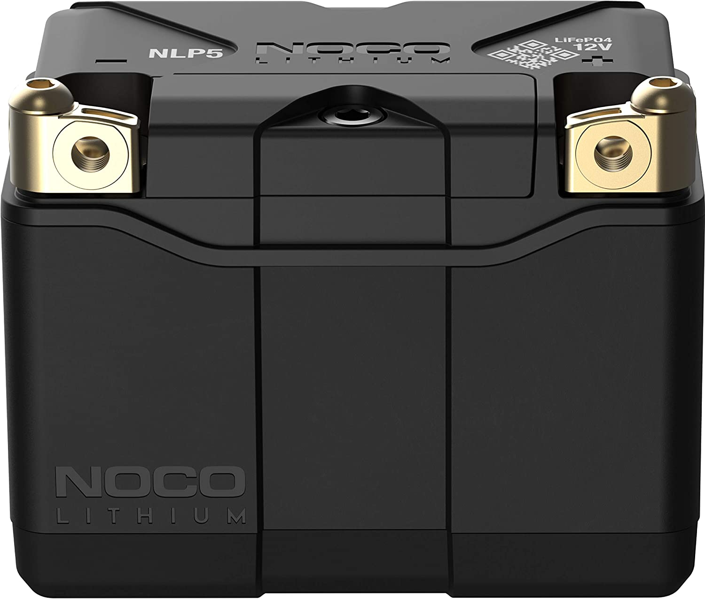 NOCO Lithium NLP5, Grupo 5, 250A Litio Powersports Batería, 12V 2Ah Batería de Moto con BMS Dinámico para Motos, Vehículos Todoterreno y Escúteres