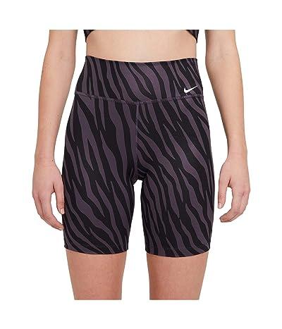 Nike One 7 Shorts All Over Print Icon Clash (Dark Raisin/White) Women