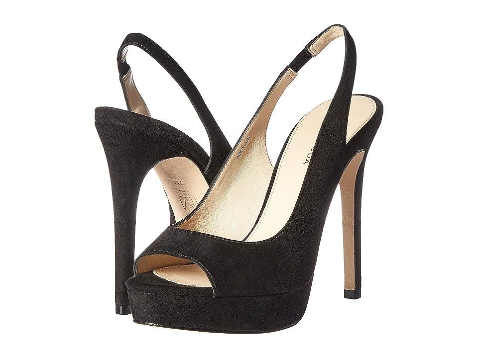 Pelle Moda Oana (Black Suede) High Heels