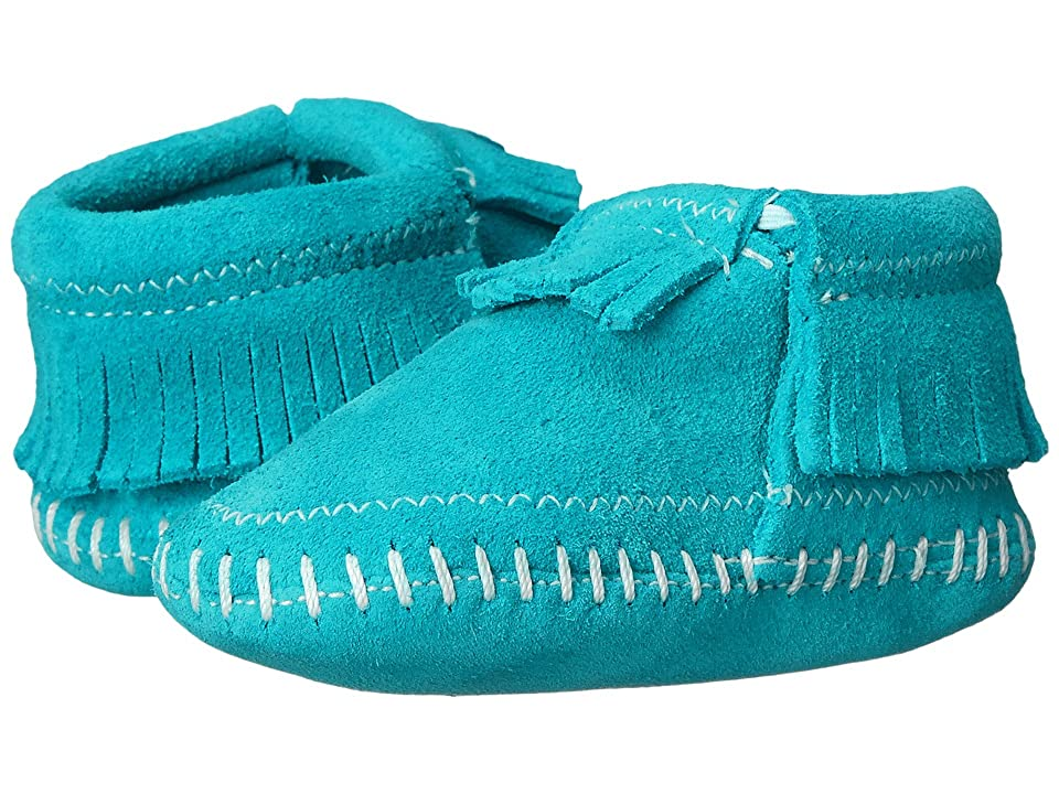 Minnetonka Kids Riley Bootie (Infant/Toddler) (Turquoise) Girls Shoes