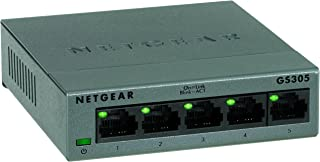 NETGEAR 端口以太网 10/100/1000 Mbps 交换机GS305-100UKS Metal Housing 5 Port Gigabit
