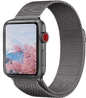MORISHIKA コンパチブル apple watch バンド 42mm,アップルウォッチバンド ミラネーゼループ ステンレス留め金製 交換ベルト 長度調節でき コンパチブルapple watch series4/3/2/1に対応(42mm,44mm,スペースグレー)