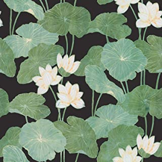 RoomMates Black Lily Pads Peel and Stick Wallpaper