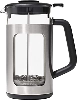 OXO BREW 8 Cup French Press with GroundsLifter, One Size, Steel