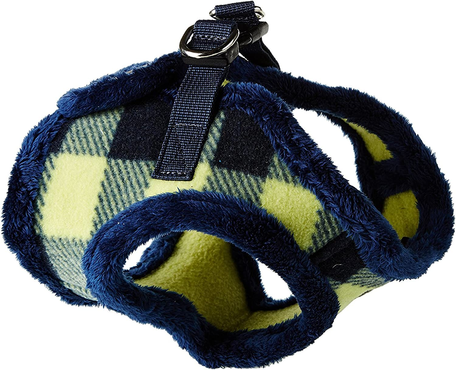 PUPPIA Authentic Waffle Vest HarnessB for Pets, Medium, Navy