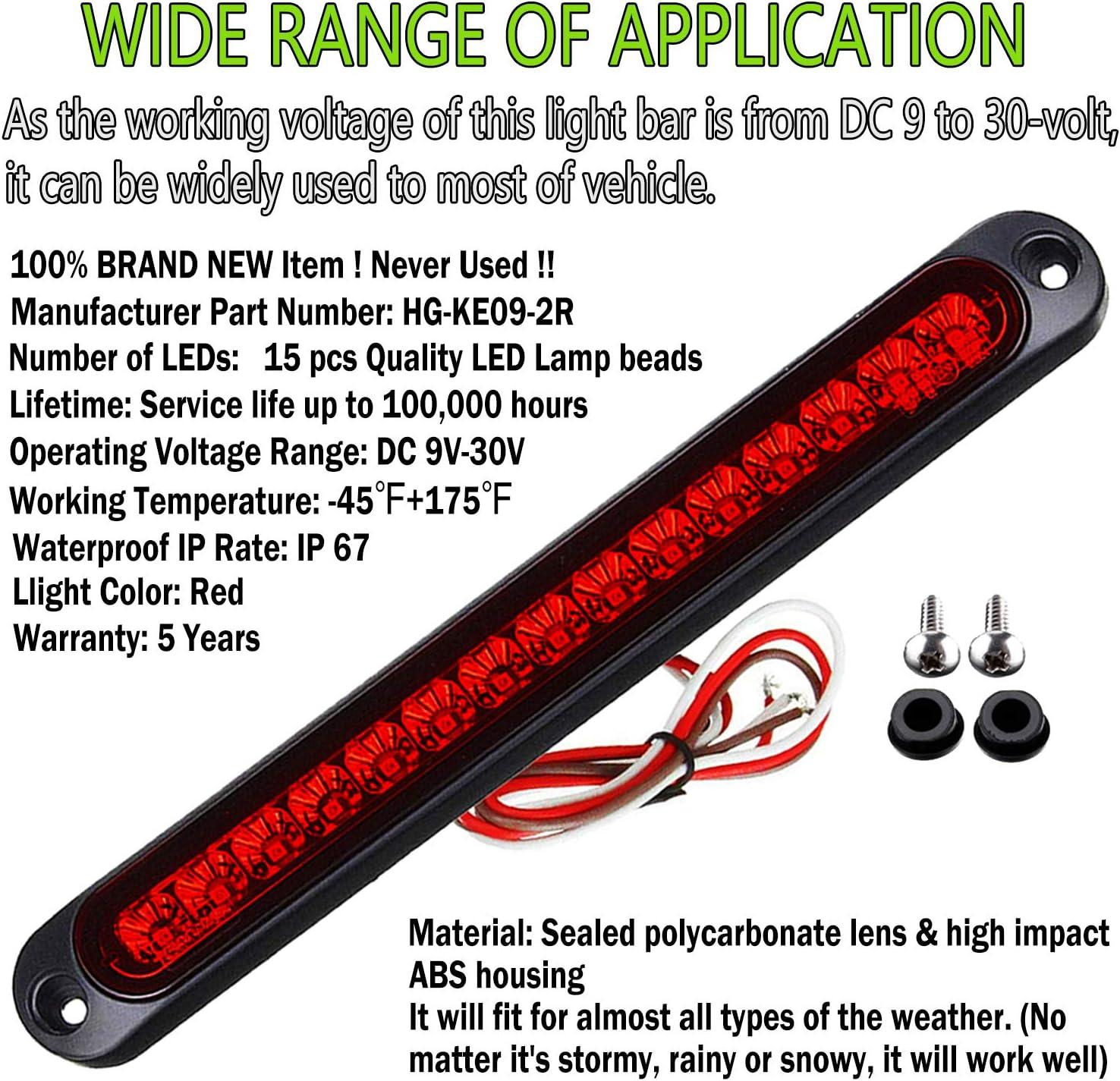 LED Turn Signal Stop Tail Lights Bar Strip Truck Rear Marker ...