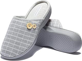 Women's memory foam slippers, Fuzzy House Slipper Winter Warm Knitted Cotton, Anti-Slip with Cozy Plush Non-Slip slipper, ...